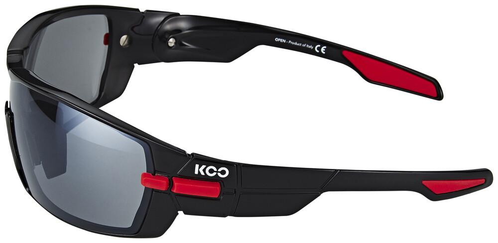 Kask KOO Sonnenbrille inkl. 2 Gläser Smoke und Clear schwarz/rot 2018 Brillen SKPvG